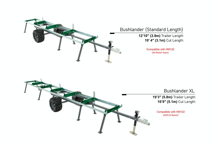 Bushlander™ Trailer  TRAILER LENGTH OPTIONS