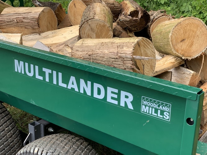 Multilander™ Logging Trailer with Utility Box Built for Logging, Ready for Hauling