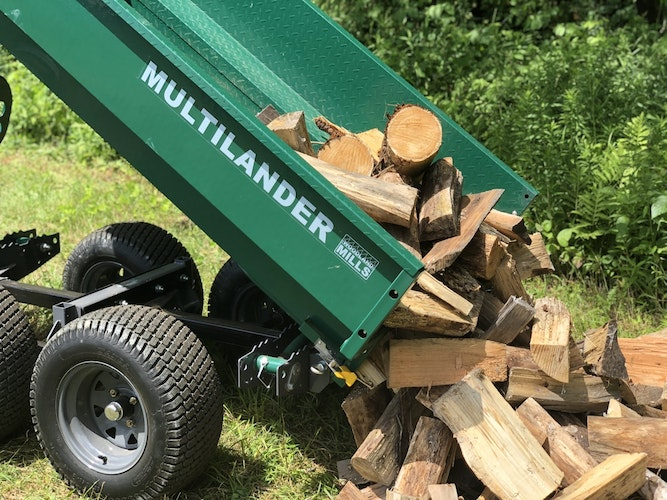 Multilander™ Logging Trailer with Utility Dump Box Built for Logging, Ready for Hauling