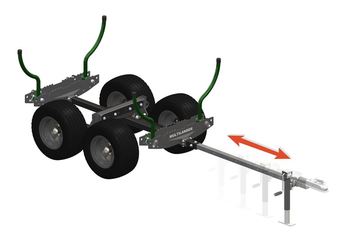 Multilander™ Logging Trailer with Utility Dump Box Adjustable Tongue Length