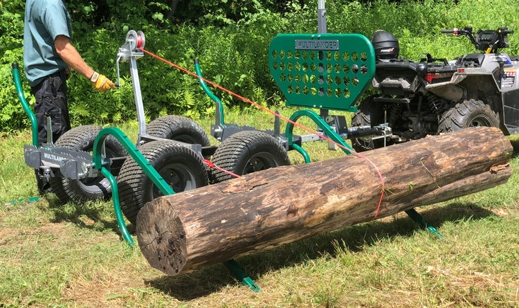 Multilander™ PRO Logging Trailer with Utility Dump Box Bring on The Big Logs