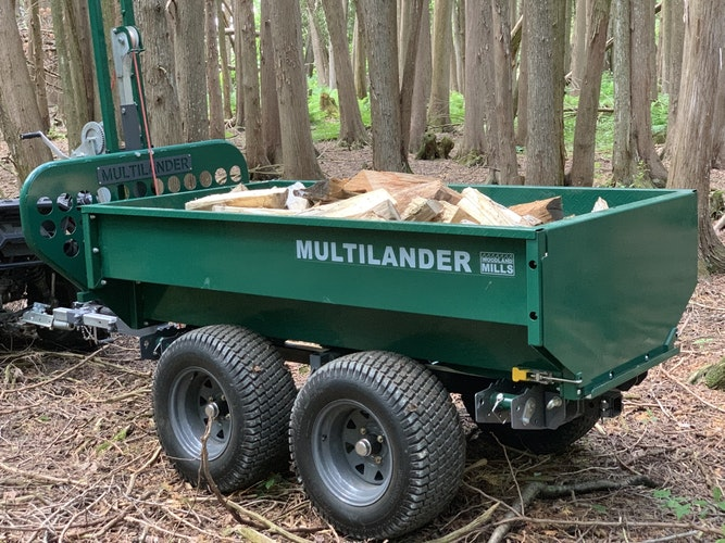 Multilander™ PRO Logging Trailer with Utility Dump Box Built for Logging, Ready for Hauling