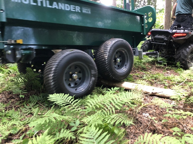 Multilander™ PRO Logging Trailer with Utility Dump Box Take the Adventurous Path