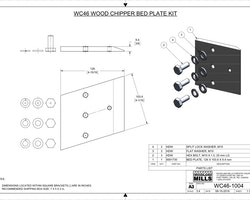 WC46 Chipper Bed Plate Kit Image 1