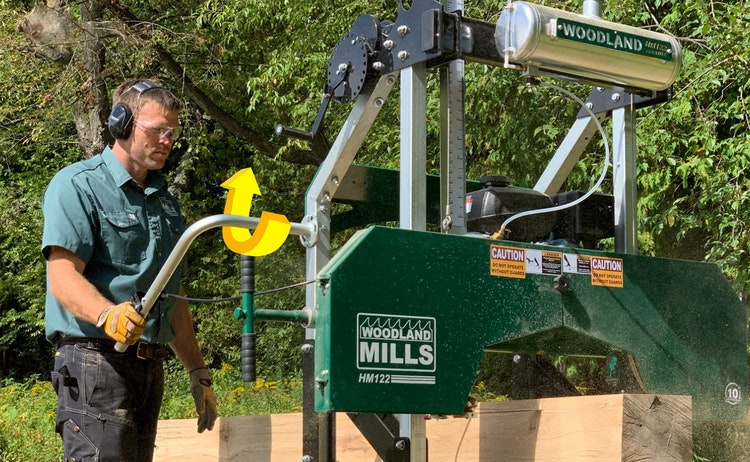HM122 Portable Sawmill GAS & GO OPERATION