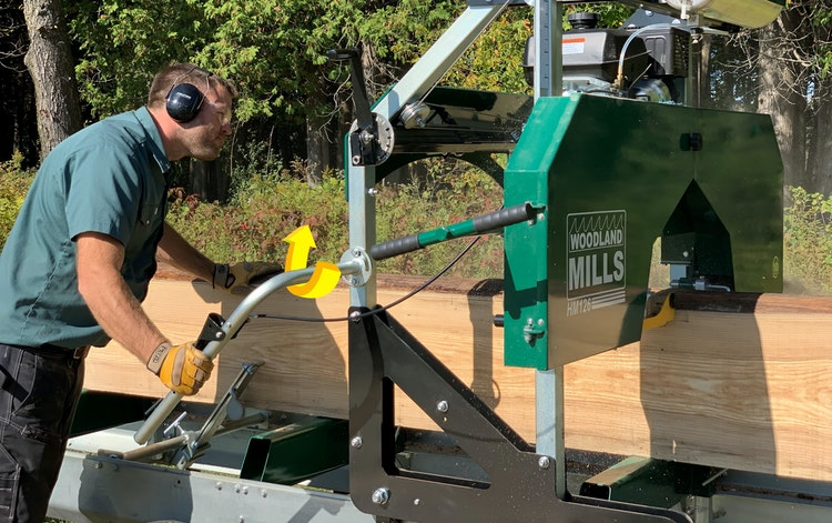 HM126 Portable Sawmill GAS & GO OPERATION
