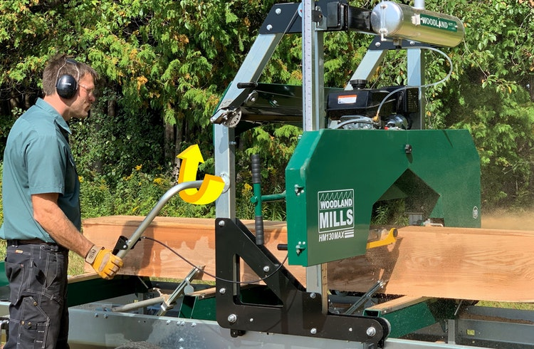 HM130MAX Portable Sawmill GAS & GO OPERATION