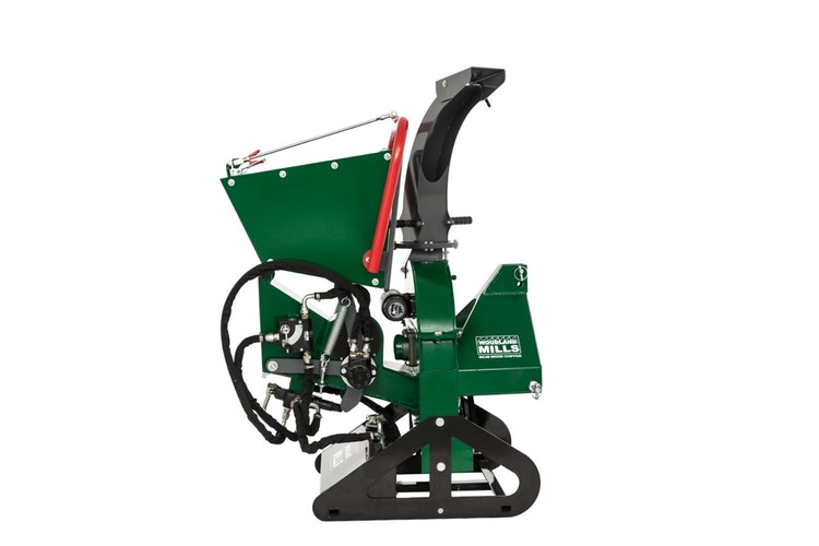 WC46 4″ PTO Wood Chipper Folding Infeed Chute